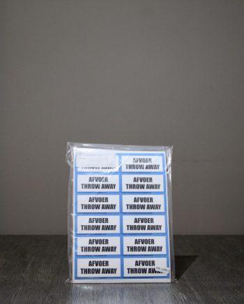 Etiketten Afvoer:Throw away