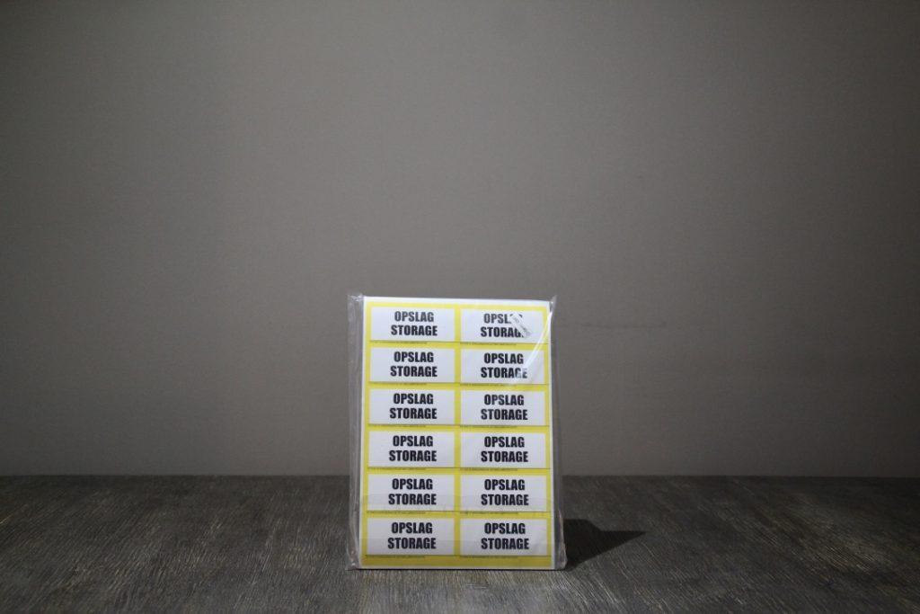 Etiketten Opslag:Storage
